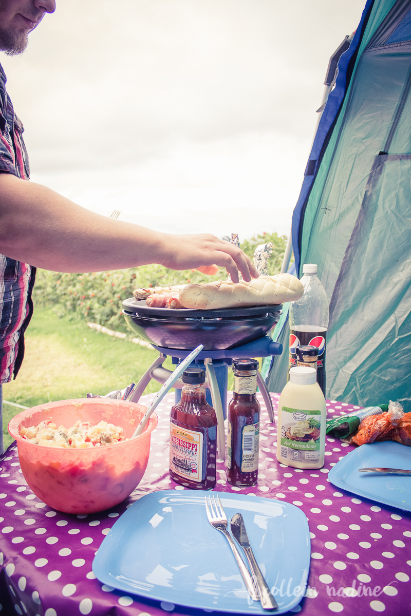 Grillen – Campingurlaub im September in Skovmose – Dänemark